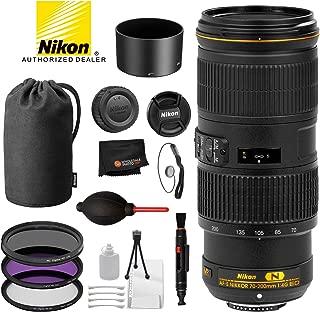 Nikon AF-S NIKKOR 70-200mm f/4G ED VR Lens with Professional Bundle Package Deal Kit for D3400, D3500, D5300, D5600, D7200, D7500, D750, D610, D500, D810, D850