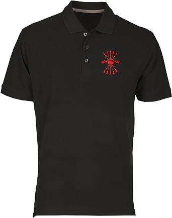 Speed Shirt Polo por Hombre Negro TM0289 falange Spagna ...