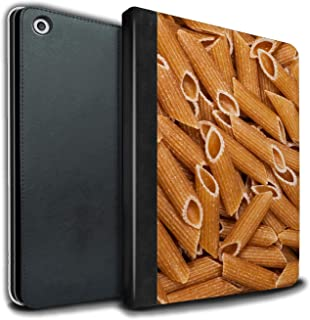eSwish PU Leather Book/Cover Case for Apple iPad 9.7 2018/6th Gen Tablets/Penne Pasta Design/Food Collection