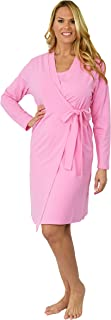 "Shadowline Women's Before Bed Collection 38"" Sleepshirt - Soft, Short Wrap Bathrobe"