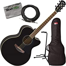 Yamaha APX600 BL Black Thin Body Acoustic-Electric Guitar w/Bag, Stand, Cloth,
