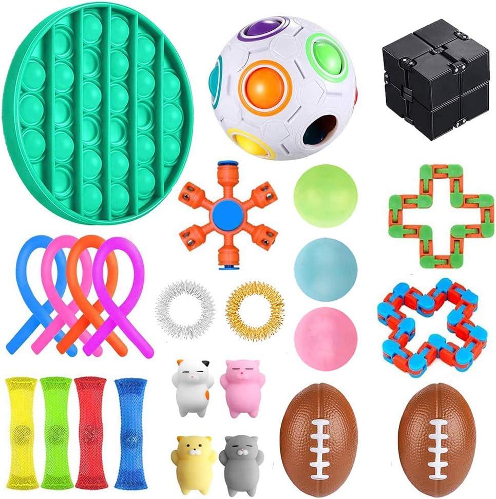 A jingjing Sensory Toys Set,23pcs Fidget Toys for Kids and Adults