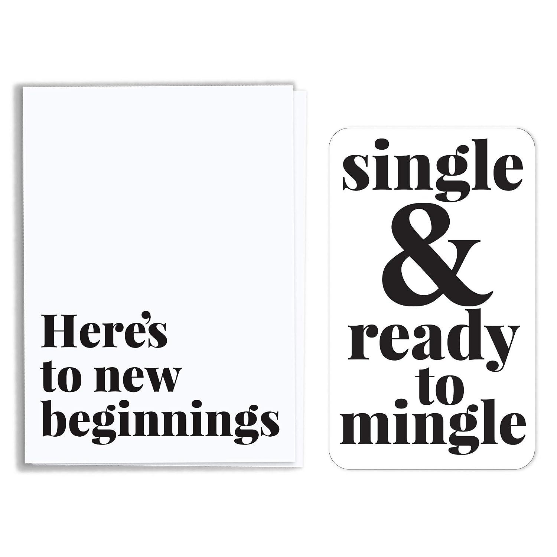 Breakup Divorce Wine Label Card Elegant - Albuquerque Mall Single Bot Ready To Mingle