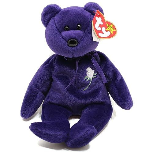 f3e8797b8b5 Princess Diana Ty Beanie Baby Bear - Mint w  Collectible Display Case