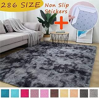 MODKOY Ribetes para alfombras Tela Lavable Tejidas Shaggy Ultra Suaves Lana Piel Sintética de Calidad Vinilo Infantil Accesible para Cocin Pisos Escaleras Ducha 240x330cm Negro