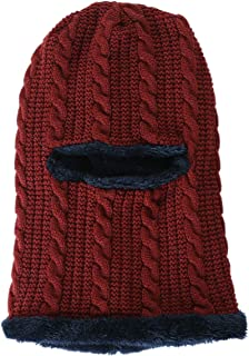 ACVIP Women's Faux Wool Fleece Lining Cold Weatehr Outdoor Thermal Balaclava Hat Headwrap