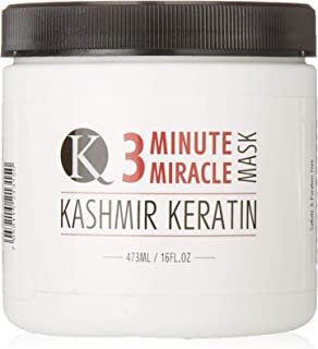 Kashmir Keratin 3 Minute Miracle Treatment Mask Deep Conditioning Sulfate and Paraben Free (16 Fl Oz.)