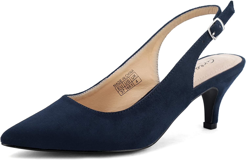 Clearance SALE! Limited time! Greatonu Women's Slingback Kitten Shoe Pumps Heel 2021new shipping free Dress