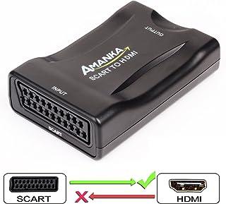 comprar comparacion AMANKA Scart a HDMI Convertidor Conversor de Euroconector a HDMI Adaptador De Vídeo Escalador para HD TV DVD Xbox PS3 BLU-Ray