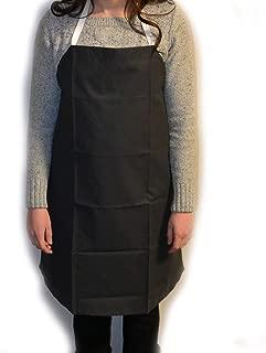 Eisco Labs Black Rubber Coated Cloth Bib Apron, Large (27