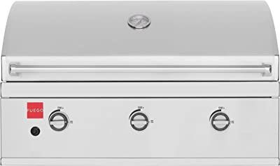 Fuego F36S-B 304SS Built-in Gas Grill, Stainless Steel