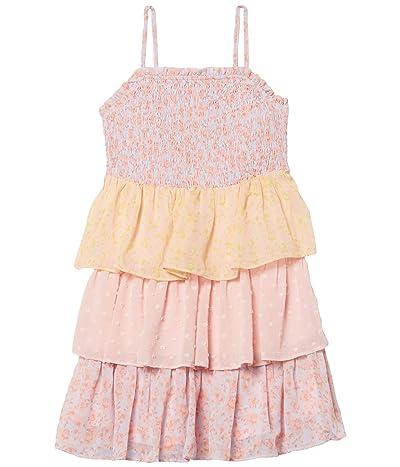 Bardot Junior Minka Tier Dress (Little Kids/Big Kids) (Blue/Pink) Girl