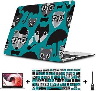 MacBook Protective Case Spring Cartoon Skunk Flowers Leaf Plastic Hard Shell Compatible Mac Air 11