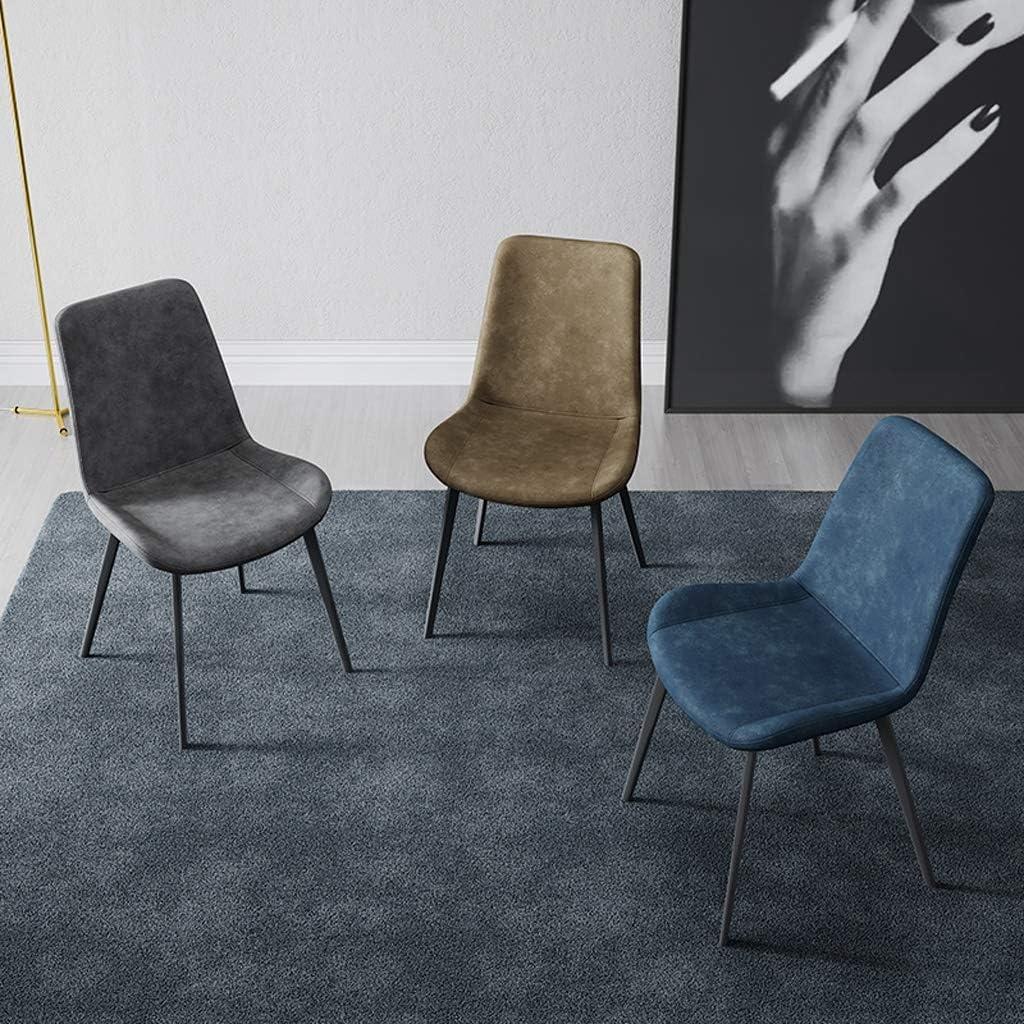 WDX- Chaise de Salle, Chaise de Bureau Simple, créative Dossier, Chaise Loisirs, Maison Adulte Chaise de Salle Confortable (Color : Orange) Brown