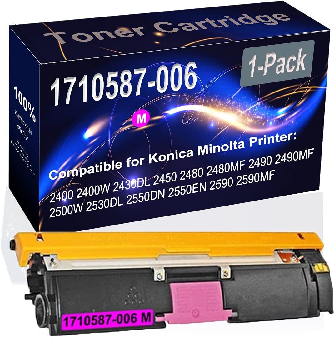 1-Pack (Magenta) Compatible 2400 2400W Laser Toner Cartridge (High Capacity) Replacement for Konica Minolta 1710587-006 Printer Toner Cartridge