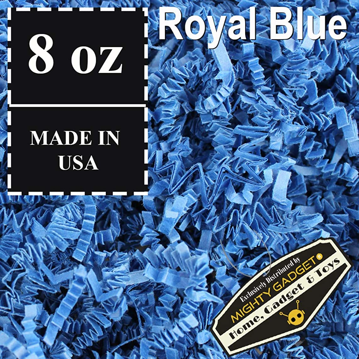 Mighty Gadget (R) 1/2 LB Royal Blue Crinkle Cut Paper Shred Filler for Gift Wrapping & Basket Filling