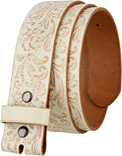 "Cowboy Western Tooled Full Grain Leather Belt Strap 1 1/2"" Wide"