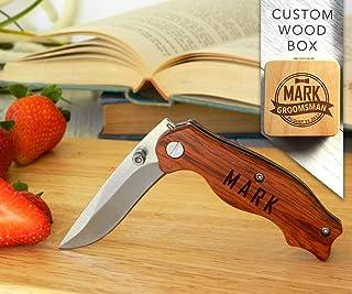 Wooden Pocket Knife, Groomsmen Gift, Groomsmen Knife, Cool Groomsmen Gift, Gift for Him, Groomsmen Gift Knife, Custom Knives, Personalized Knife, Engraved knife, Custom Pocket Knife