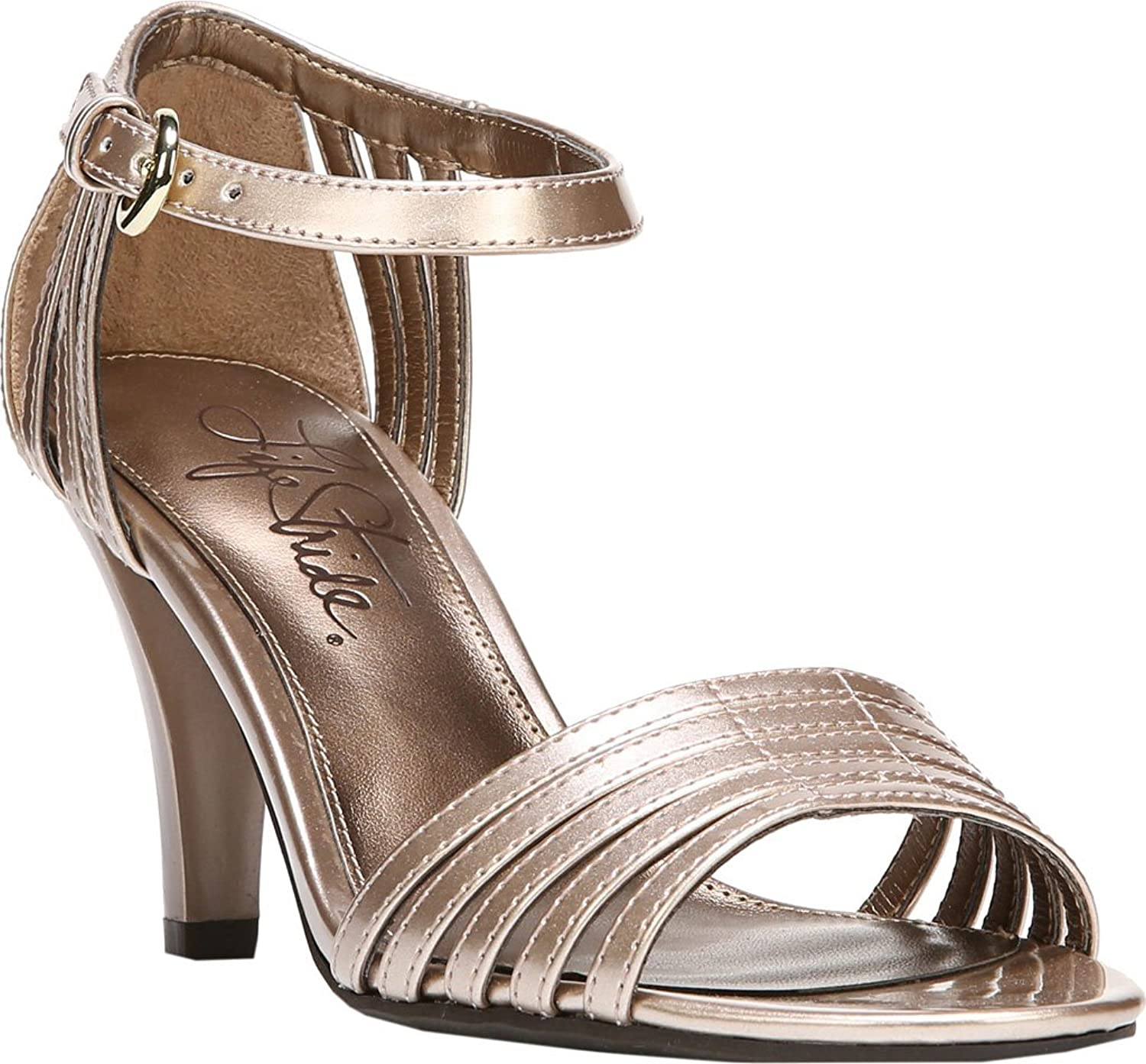 LifeStride Women's Center Ankle Strap Sandal