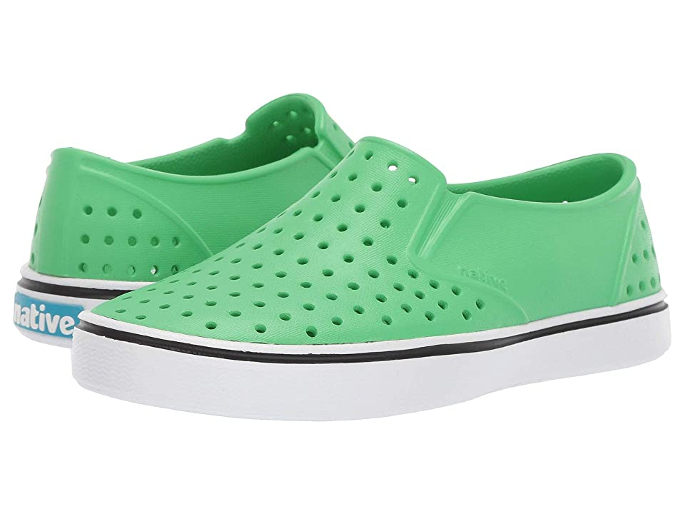 Native Kids Shoes Miles Slip-On (Little Kid/Big Kid) (Grasshopper Green/Shell White) Kids Shoes