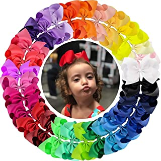 Oaoleer 30 Colors 4 Inch Hair Bows Clips Grosgrain Ribbon Bows Hair Alligator Clips Hair Barrettes Hair Accessories for Girls Toddler Infants Kids Teens Children (4 Inch/30pcs)