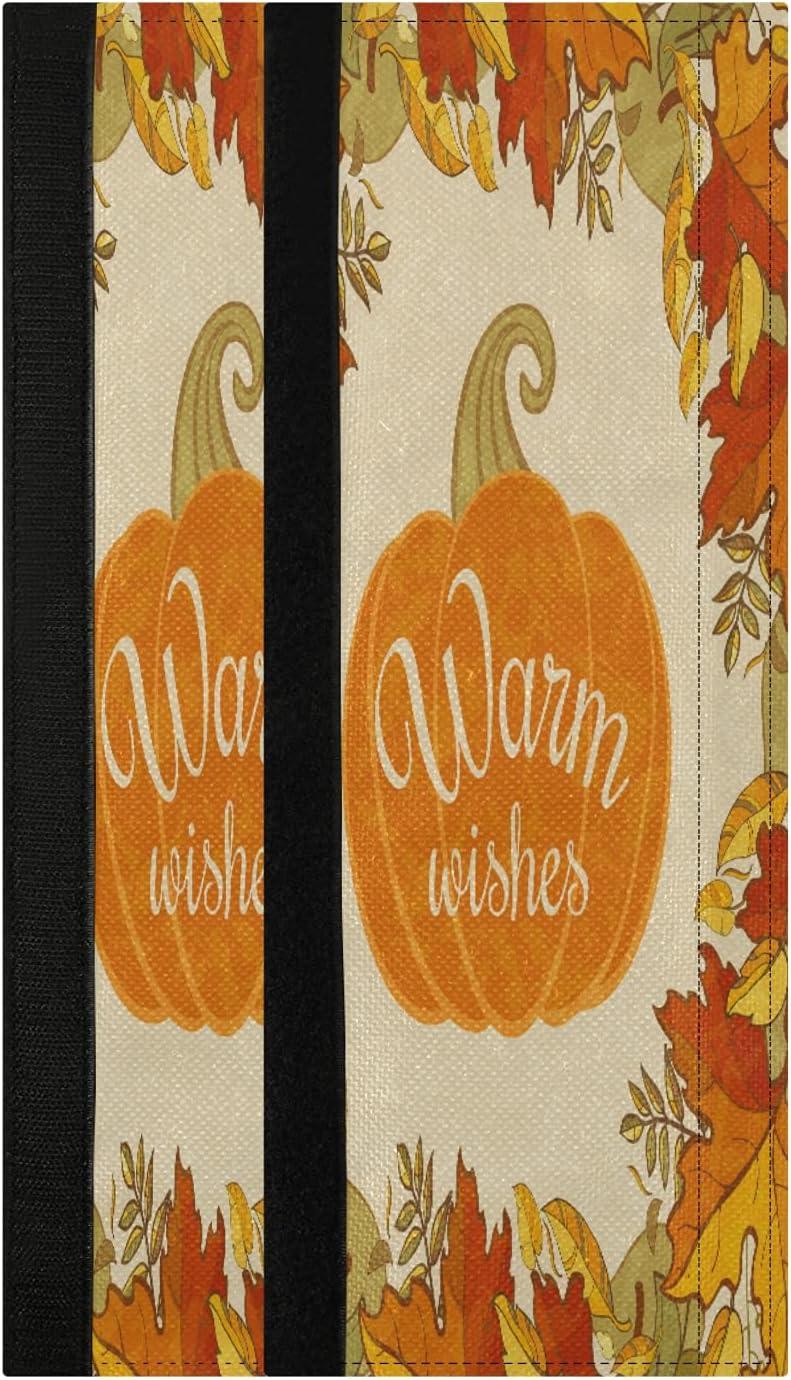 Autumn Fall Orange Leaves Pumpkin Refrigerator Door Handle Cover