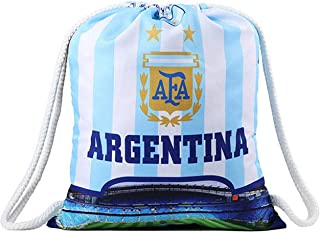 World Cup Printed Drawstring Backpack Football Fan Argentina