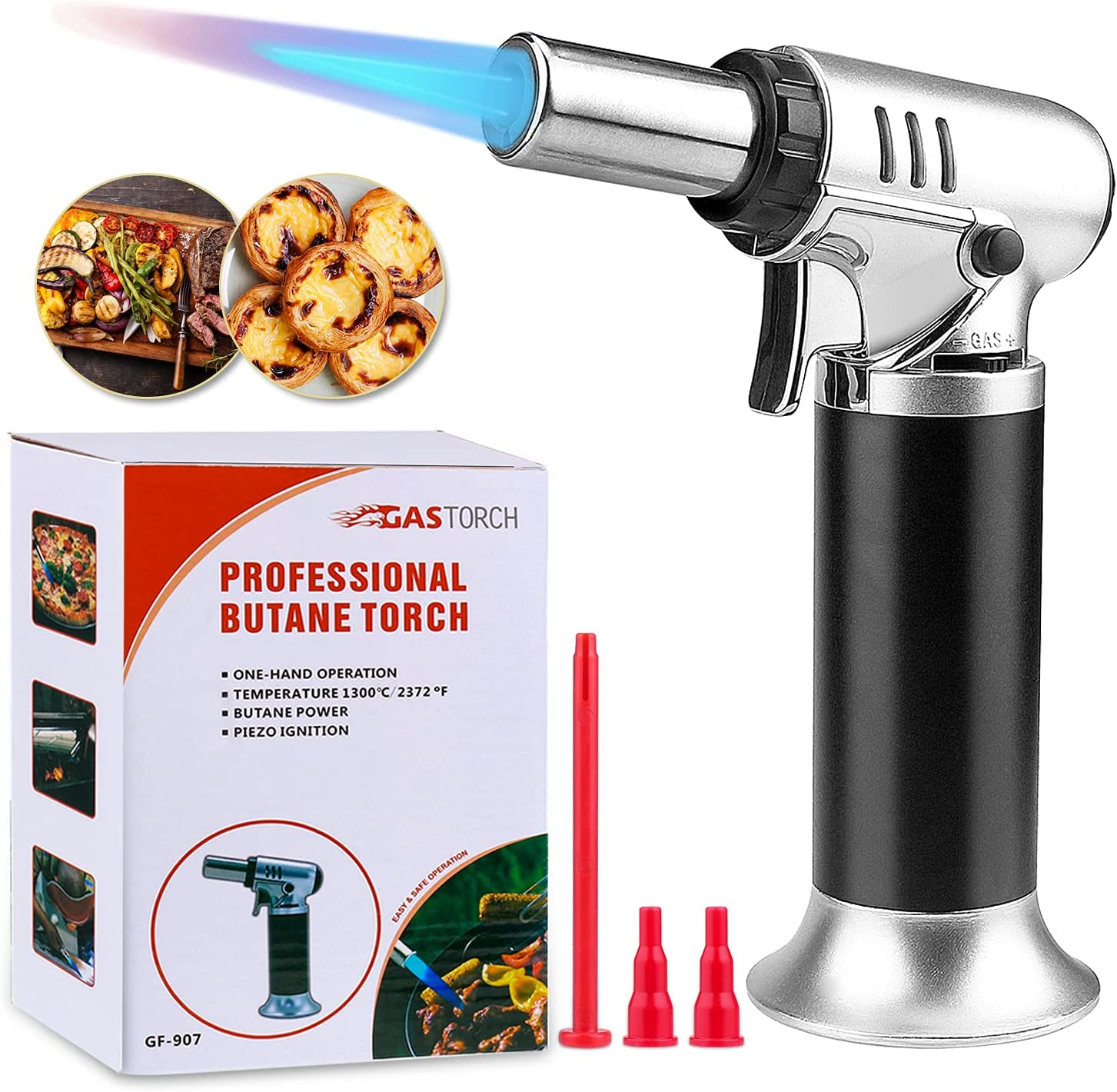 Butane Torch Aottom Refillable Torc Spring new work New Free Shipping one after another Blowtorch Culinary Kitchen