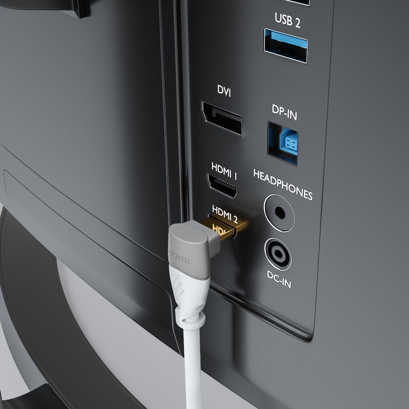 deleyCON 1,5m Cable HDMI Ángulo de 90°: Amazon.es: Electrónica