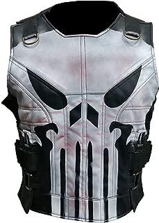 Men's The Punisher Season 2 Jon Bernthal Black Faux Leather Vest 2XS to 3XL