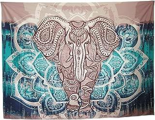 Mofeng Bohemian Mandala Elephant Home Decor Wall Decoration Wall Hanging Tapestry Beach Blanket, 79
