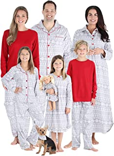 Matching Family Christmas Pajama Sets, Red Flannel