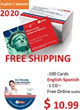 US Citizenship test civics flash cards for the 2020 naturalization exam with all official 100 USCIS questions and answers. (English and Spanish Edition). Includes 1 Audio CD