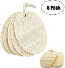 Loofah Cleaning Sponge,8 Pack Natural Loofah Pads Portable Household Dish Scrubber for Kitchen,Dishes,Bathroom,Furniture,3.6x4.7 Inch
