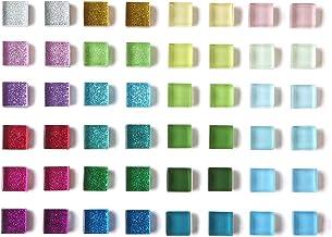Paquete de 48 imanes de vidrio para nevera para nevera con imanes bonitos con purpurina, de colores decorativos para taqui...