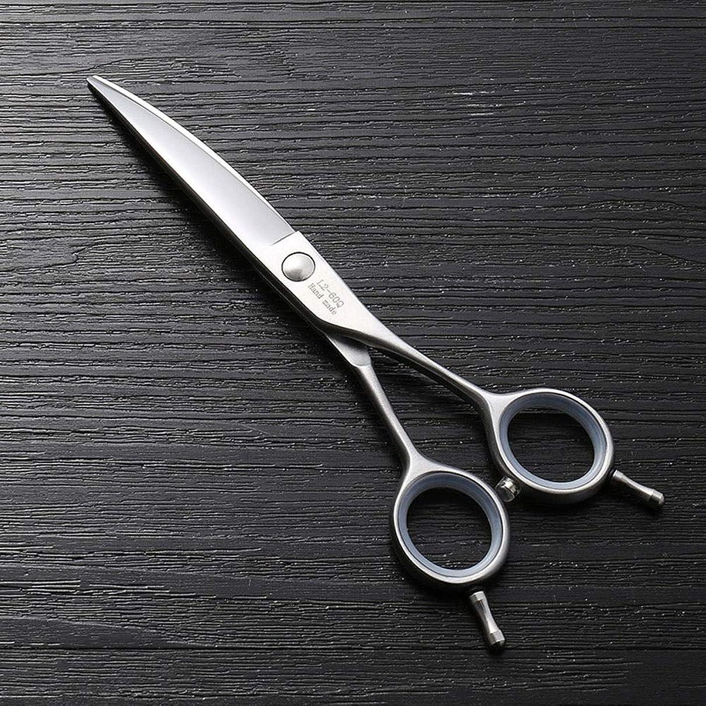 ノベルティ数学ポンペイ6インチワープカットフラット理髪ツール、トレンド新しいヘアカットはさみ モデリングツール (色 : Silver)