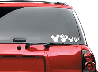 Mickey - Ears - Family - Bumper - Sticker - Automotive - Car - Decal