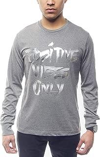 Sean John Men's Long Sleeve Positive Vibes Only Shirt