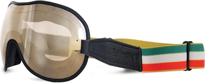 Ethen Lunettes Vintage pour Moto et Motocross Made in Italy Elastique Rempla/çable avec Antid/érapant au Dos Convient /à Tout Type de Casque