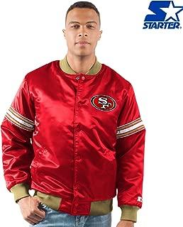 STARTER San Francisco 49ers The Draft Pick Full Snap Satin Jacket -Scarlet