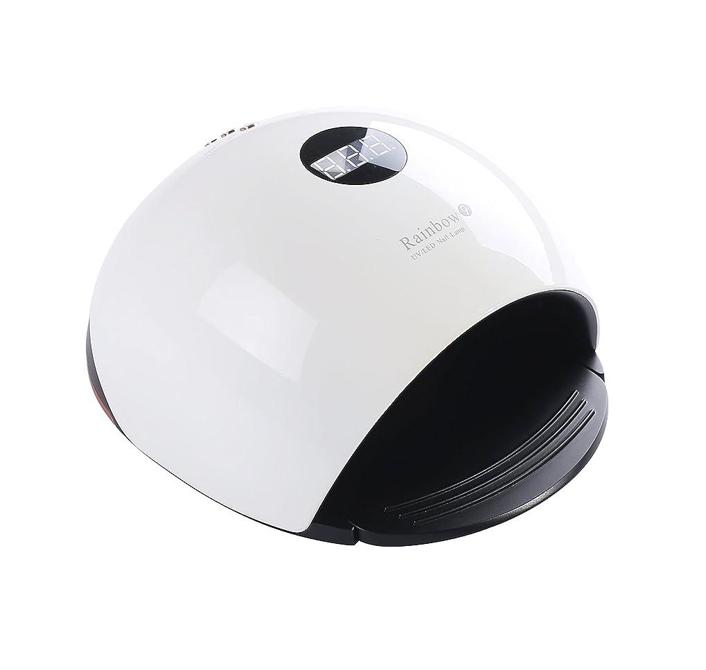 ダッシュ岸ミキサーUniSign LED/UVジェルネイルライト ネイルドライヤー ネイル光線療法 48W 33個 二重光源 スマート感応 定時