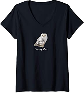Women's Snowy Owl V-Neck T-Shirt