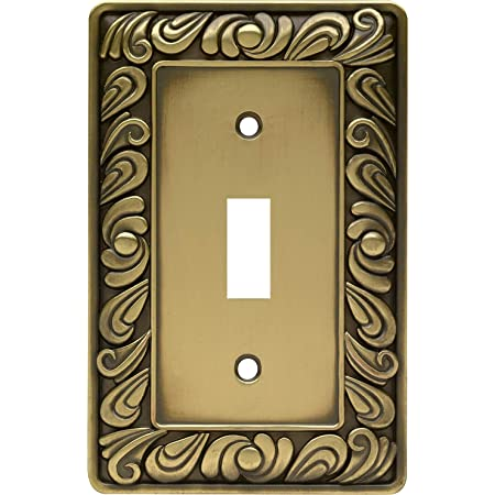 Franklin Brass 64049 Paisley Single Toggle Switch Wall Plate Switch Plate Cover Tumbled Antique Brass Light Switch Cover Amazon Com