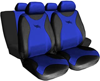 GSC Sitzbez/üge Komplettset Autositzbezug Universal Blau kompatibel mit Toyota Yaris Turbo
