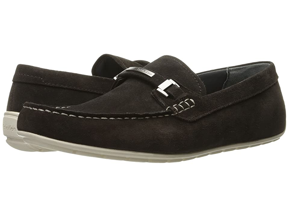 Calvin Klein Ignacio (Dark Brown Oily Suede) Men