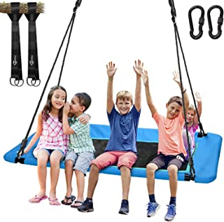 "Trekassy 660lb Giant 60"" Platform Tree Swing for Kids and Adults Waterproof with Durable Steel Frame and 2 Hanging Straps"