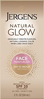 Jergens Natural Glow Face Daily Moisturizer SPF 20 Fair to Medium For Unisex 2 oz