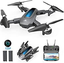 DEERC Drone with Camera 720P HD WiFi FPV for Kids and Adults, Foldable RC Qudcopter with Function of Waypoints, Headless M...