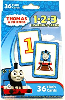 Thomas the Train and Friends 1 2 3 Learning Cards (36 Flash Cards) 123 Teaching Numbers Math Early Development Counting Educational by Bendon - Steam Tank Engine Locomotive
