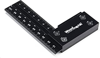 Woodraphic Precision Square 100mm Guaranteed Square Ruler for Measuring and Marking - Aluminum Steel Framing Tool for Professional Carpentry Use